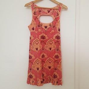 Free People Coral Pattern Dress